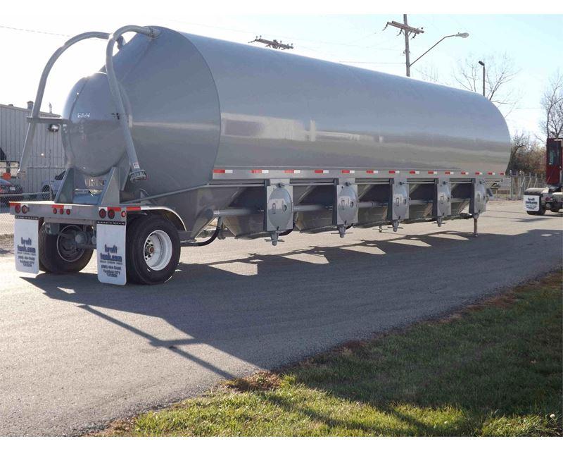 Portable Storage Trailer : Troxell portable storage silo pig guppy dry