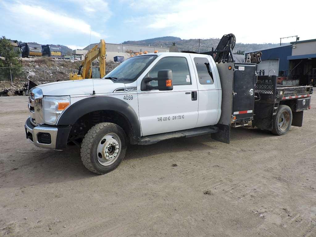 2011 ford f550 4x4 crew bucket boom truck