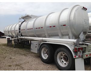 Etnyre 8400 Gallon Aluminum Double Conical Crude Oil Tank Trailer