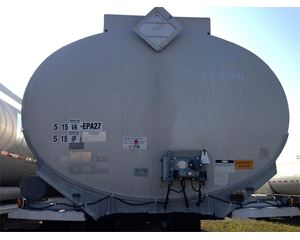 Fruehauf 9500 Gallon 4 Compartment Gasoline / Fuel Tank Trailer