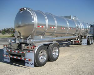 Polar 8400 gal Alum Double Conical Crude Oil Tank Trailer