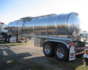 Polar 8400 gal Alum Double Conical Crude Oil Tank Trailer