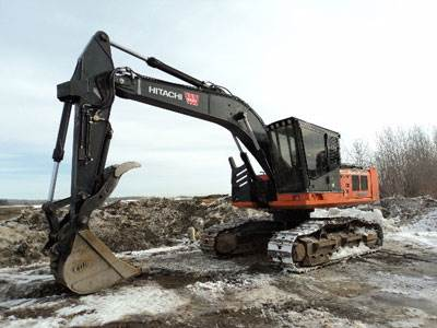 2012 hitachi zx240f 3 road builder excavator for sale 9 858 hours