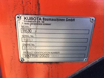 2014 Kubota R630 Wheel Loader