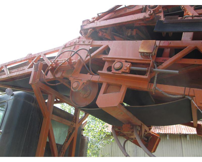 Rail Car Unloader on Peterbilt Truck