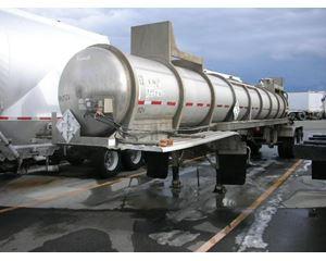 Brenner 3600 gallon, MC312, 316 Stainless Chemical / Acid Tank Trailer