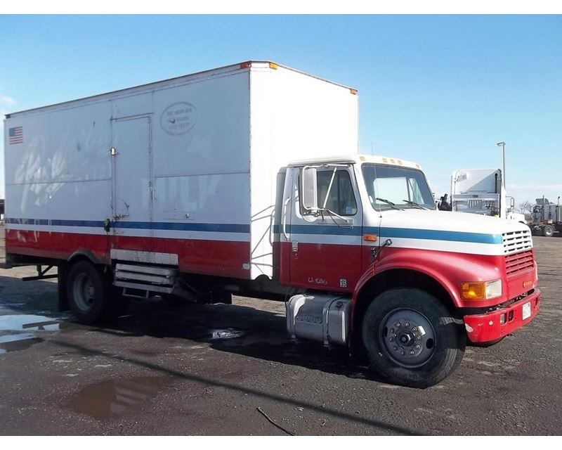 1990 international 4900 refrigerated truck for sale fresno ca. Black Bedroom Furniture Sets. Home Design Ideas