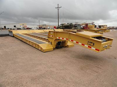 2020 Witzco Challenger NGB-50 Lowboy Trailer - Non Ground Bearing, 26' Load-well, Outriggers