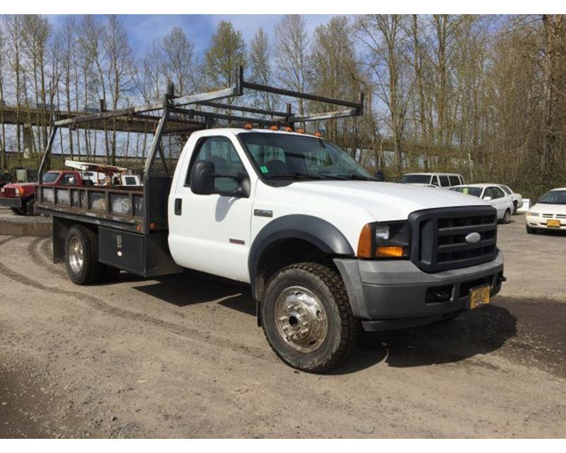 2006 ford f 350 flatbed truck for sale portland or. Black Bedroom Furniture Sets. Home Design Ideas