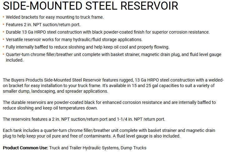New 15 Gallons Steel Hydraulic Tank  17