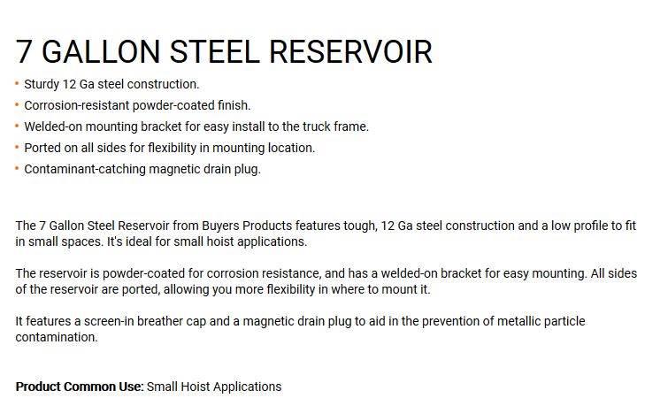 New 7GALLONS Steel Hydraulic Tank  11