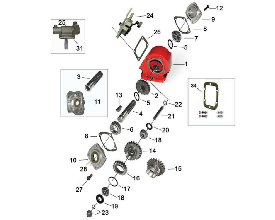 Parts Power Take Off : New pto drive gear replaces chelsea p works in