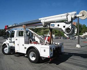 Ford F800 Winch Truck