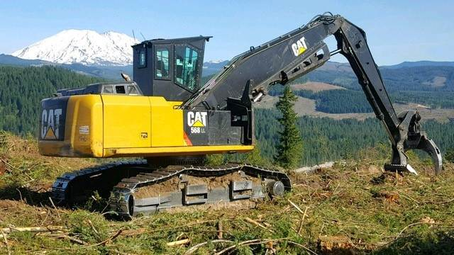 2017 Caterpillar 568 LL Log Loader with Grapple For Sale, 3,800 Hours |  Everson, WA | L345 | MyLittleSalesman com