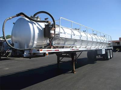 2012 Troxell 42x96 Tandem Axle Aluminum Vacuum Tank Trailer - Air Ride,  Fixed Axle