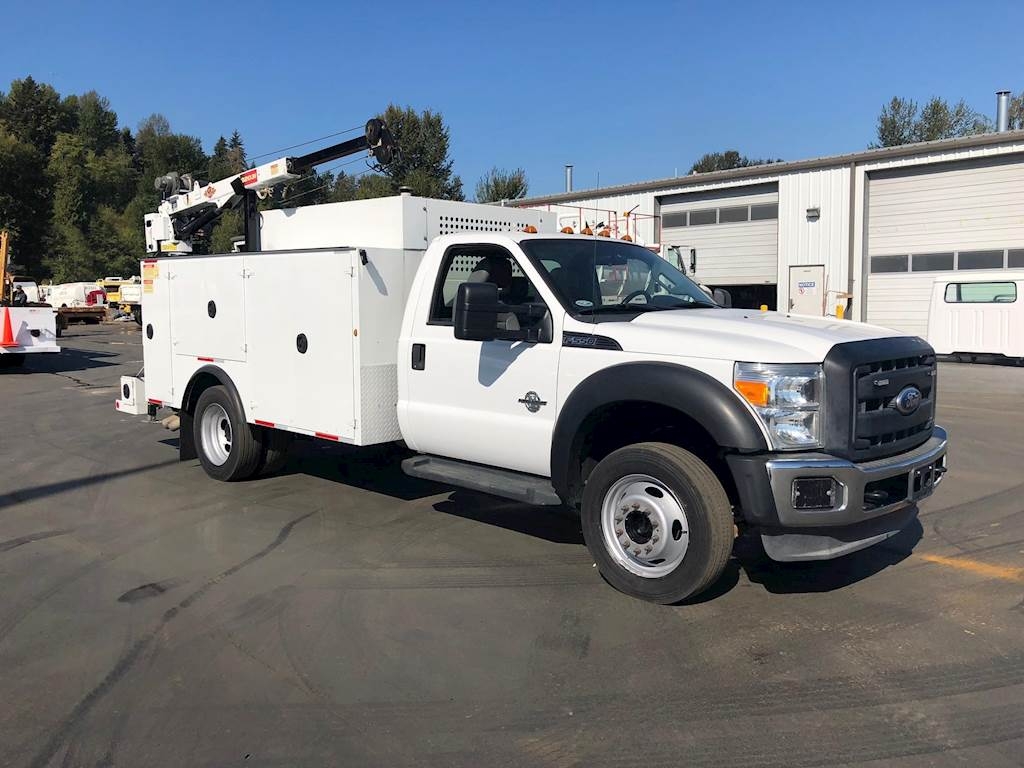 Ford F  Single Axle Mechanic Service Truck Powerstroke Automatic