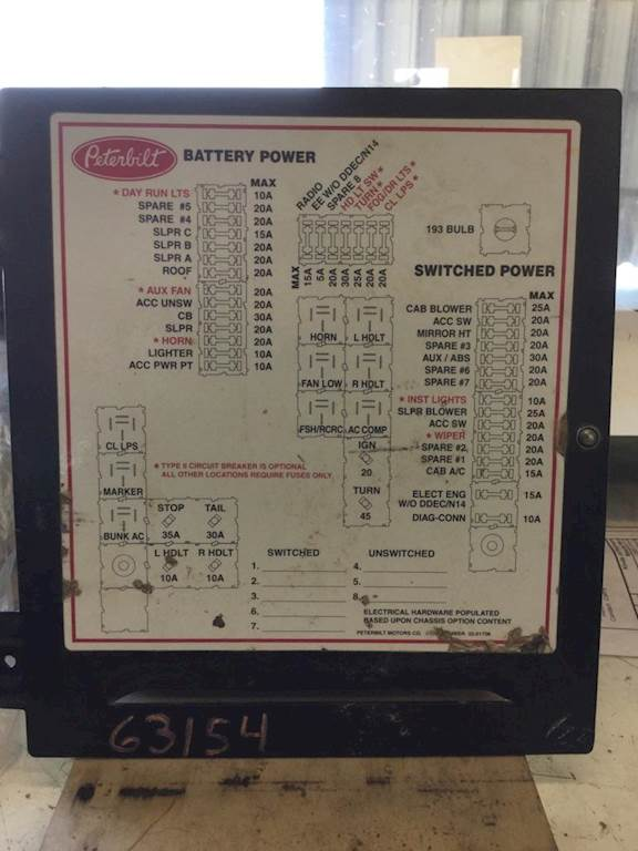 2005 Peterbilt 379 Fuse Box For Sale