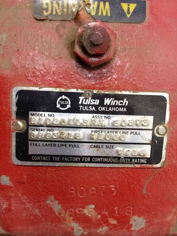 Tulsa Ford Dealers >> Tulsa H10 Winch for a 1994 Ford LN8000 For Sale | Jackson, MN | 19259 | MyLittleSalesman.com