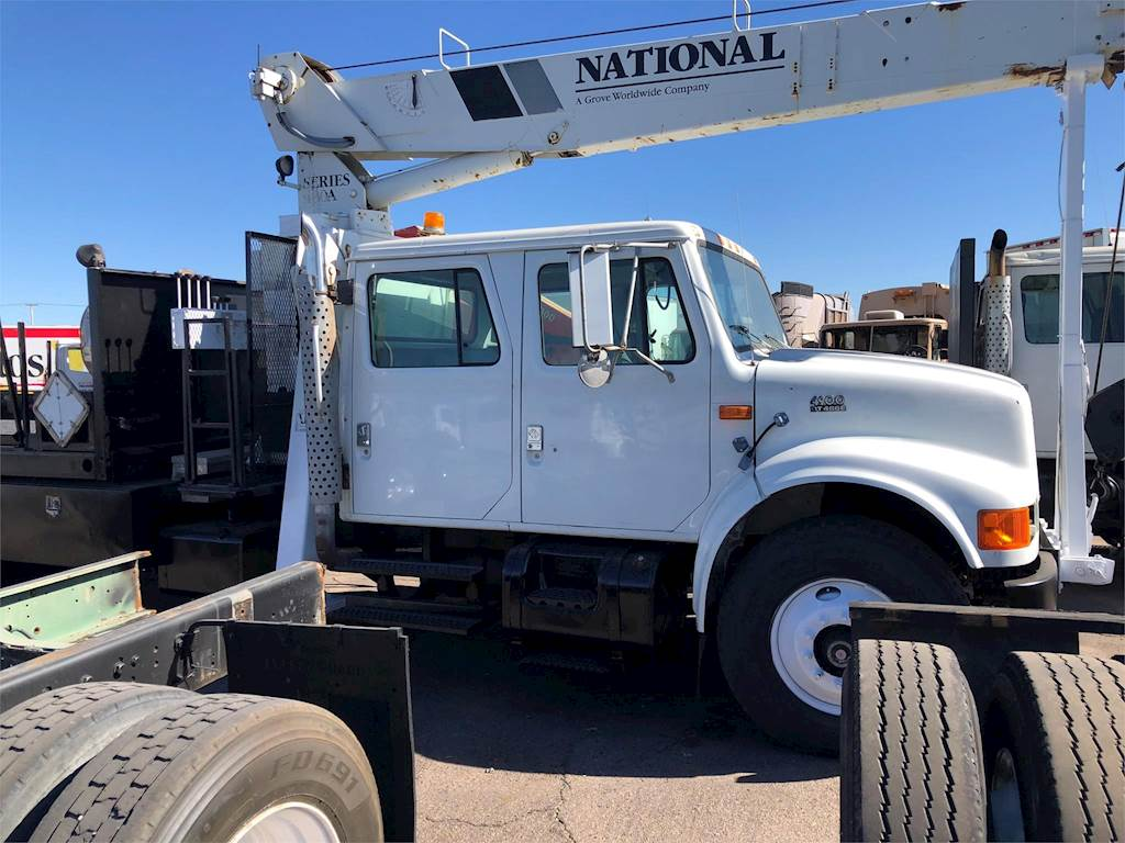 Crane Truck For Sale >> 1997 International 4900 Crane Truck For Sale 175 697 Miles