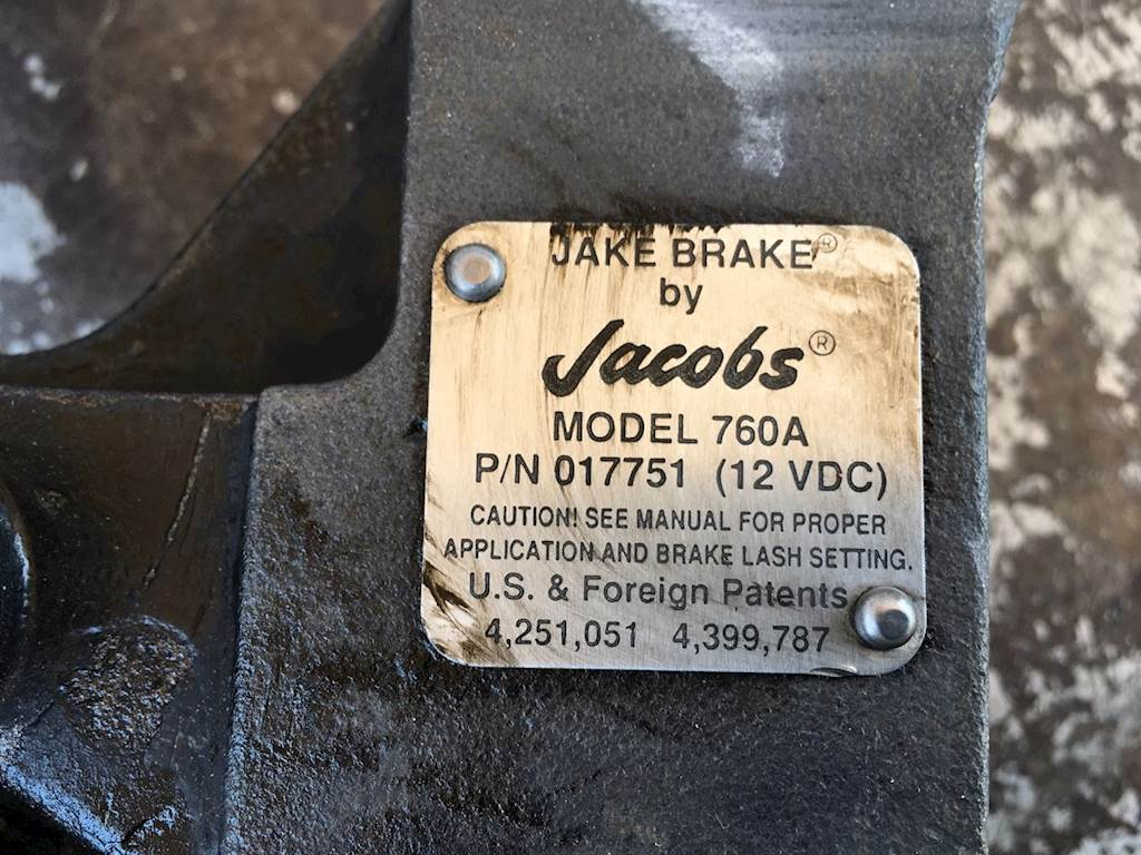 Used Jake Brake By Jacobs Model 760A For Detroit Engine For