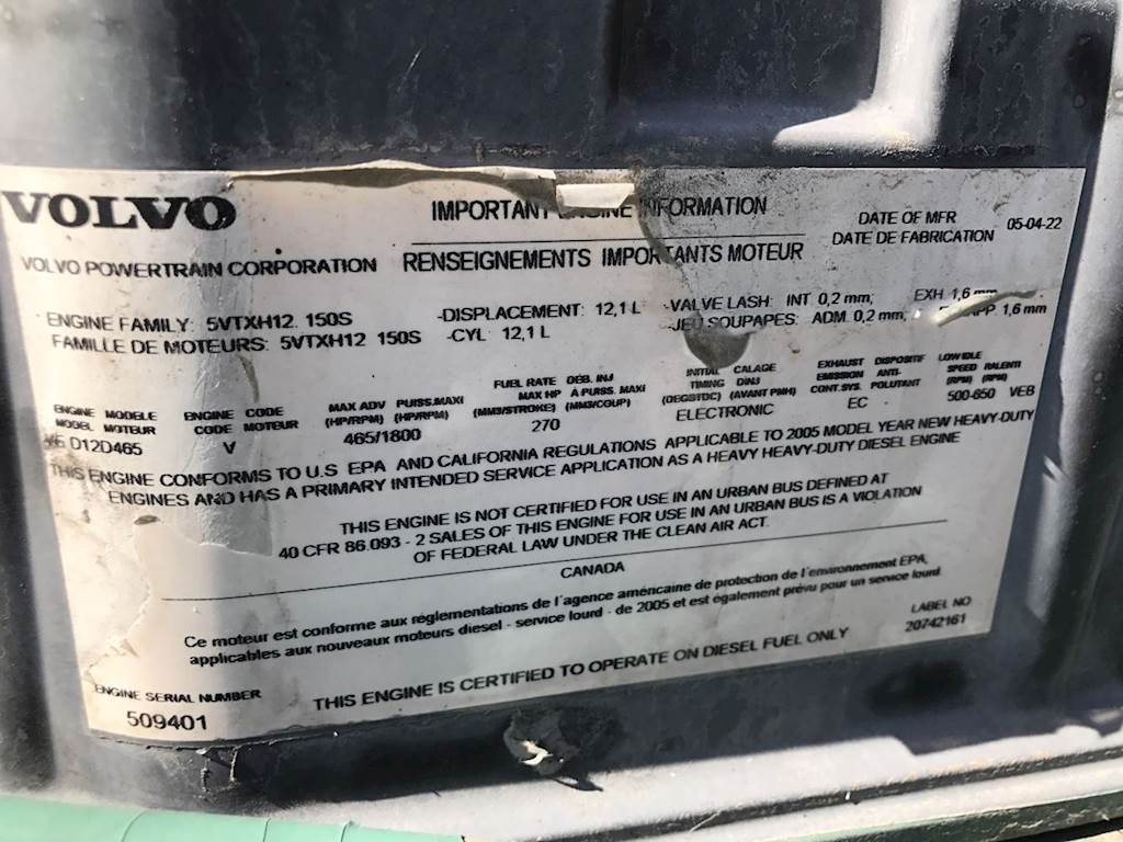 Volvo Engine Number Location