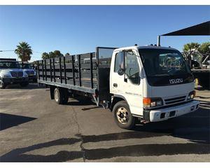 Isuzu NPR Flatbed Truck