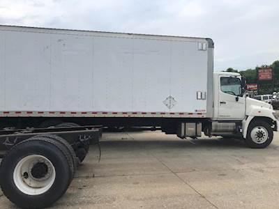 2014 hino 268 26ft box truck - morgan dry box van, roll up, 5000lb