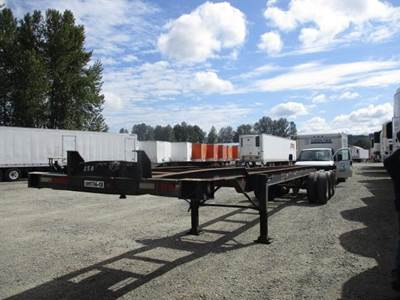 1980 Ajax 40x96 Tri Axle Steel Container Chassis - Spring