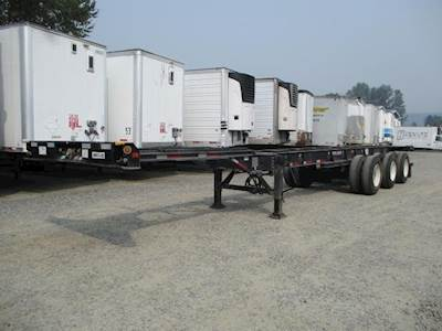 2019 CIMC 40-53' TRI AXLE EXTENDABLE CHASSIS Tri Axle Combination Container Chassis - Spring, Sliding Axle