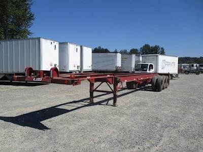 1978 Trailmobile 40' TRI AXLE CHASSIS Tri Axle Steel Container Chassis - Spring, Fixed Axle