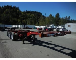 Pratt 20/40- EZ- GOOSE NECK COMBO TRI-AXLE CHASSIS Container Trailer Chassis