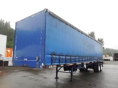 1999 Nu Van 40x102 Tandem Axle Steel Curtain Side Trailer, Air Ride, Sliding Axle