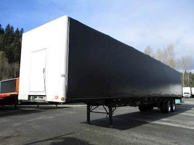 2012 Transcraft 53x102 Tandem Axle Combination Curtain Side Trailer - Air Ride, Sliding Spread Axle