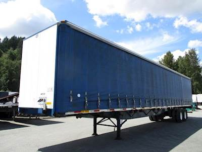 2008 UTILITY 53x102 Tandem Axle Combination Curtain Side Trailer - Air Ride, Sliding Axle