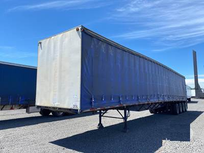 1993 Western 56x102 Quad Axle Combination Curtain Side Trailer - Spring, Fixed Axle