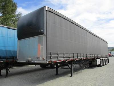2014 Western 53x102 Quad Axle Combination Curtain Side Trailer - Air Ride, Fixed Axle