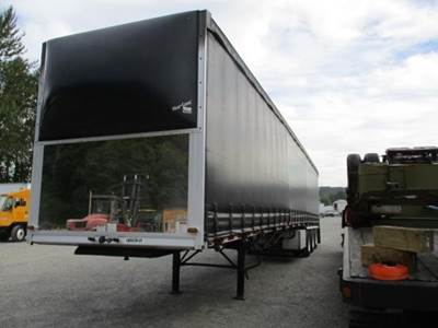 2016 Western 53x102 Quad Axle Combination Curtain Side Trailer - Air Ride, Fixed Axle