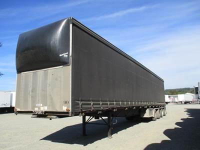 2005 Western 53x102 Quad Axle Combination Curtain Side Trailer - Air Ride, Fixed Axle