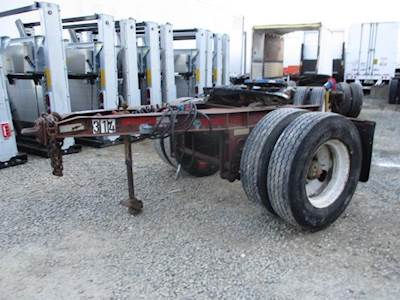 1968 Fruehauf 96'' WIDE CONVERTER DOLLY Single Axle Combination Dolly Trailer - Spring, Fixed Axle