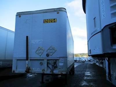 1995 Fruehauf 28 ft Dry Van Trailer - Roll up Door, Spring, Single Axle, Fixed Axle