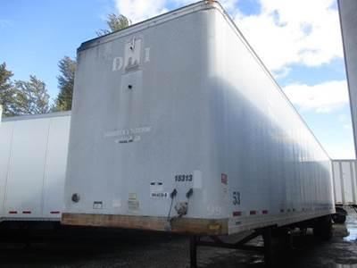 """2000 Fruehauf 53' 102"""" AIR RIDE SWING DOOR VAN Dry Van Trailer"""