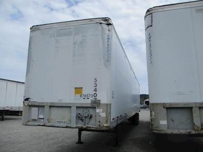 1994 Fruehauf 53 ft Dry Van Trailer - Swing Door, Air Ride, Sliding Axle