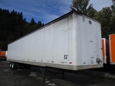 """2000 Great Dane 53' 102"""" AIR RIDE SWING DOOR TRANSLUCENT ROOF VAN Dry Van Trailer"""