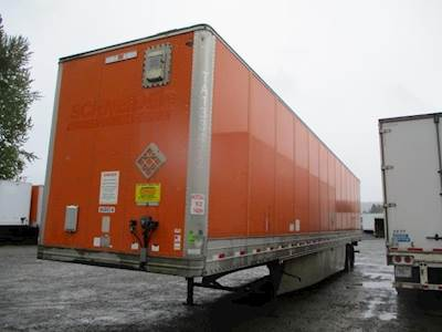 2012 Hyundai 53 ft Dry Van Trailer - Swing Door, Spring, Sliding Axle