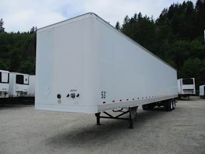2004 Hyundai 53 ft Dry Van Trailer - Swing Door, Air Ride, Sliding Axle