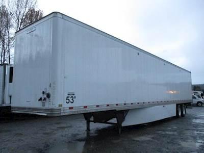 2017 Hyundai 53 ft Dry Van Trailer - Swing Door, Air Ride, Single Axle, Sliding Axle