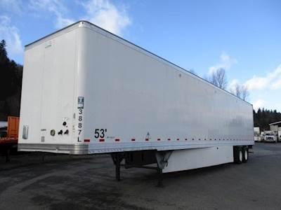 2013 Hyundai 53 ft Dry Van Trailer - Swing Door, Air Ride