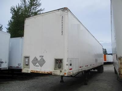 2003 Manac 45 ft Dry Van Trailer - Swing Door, Spring, Sliding Axle