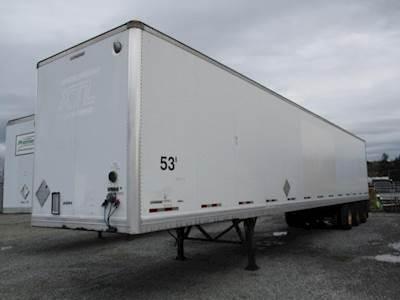 2008 Manac 53 ROLL DOOR TRI-AXLE AIR RIDE DRY VAN Dry Van Trailer