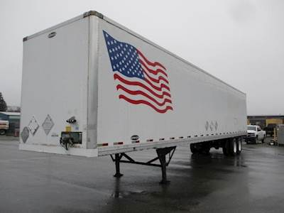 2007 Strick 48 ft Dry Van Trailer - Roll up Door, Air Ride, Sliding Axle